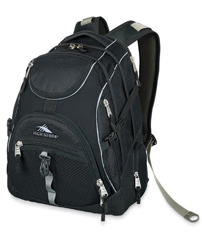 High Sierra Access Laptop Backpack (Black) - bag space Darling Harbour