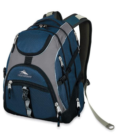 High Sierra Access Laptop Backpack (Navy/Grey) - bag space Darling Harbour