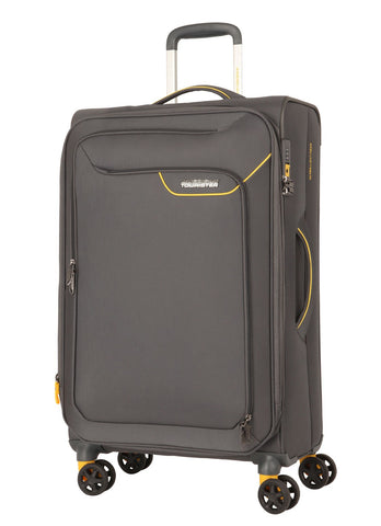 American tourister APPLITE 4 SECURITY (Lightning Grey 82 cm Spinner) - bag space Darling Harbour