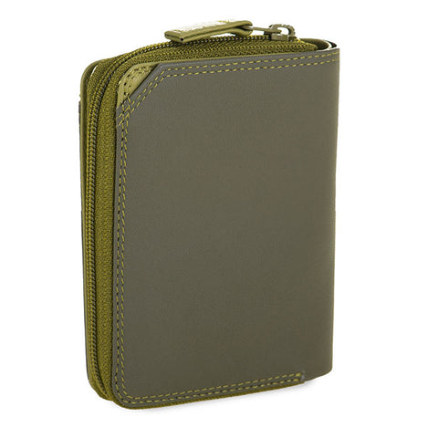 Small Wallet with Zip Around Purse (Olive)