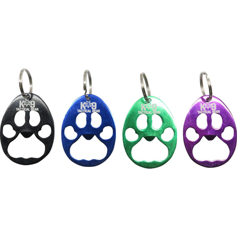 K9 Tactical Gear Paw Print Keychain