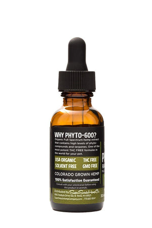 Super Snouts Phyto-600 THC FREE :: PCR FULL SPECTRUM HEMP TINCTURE