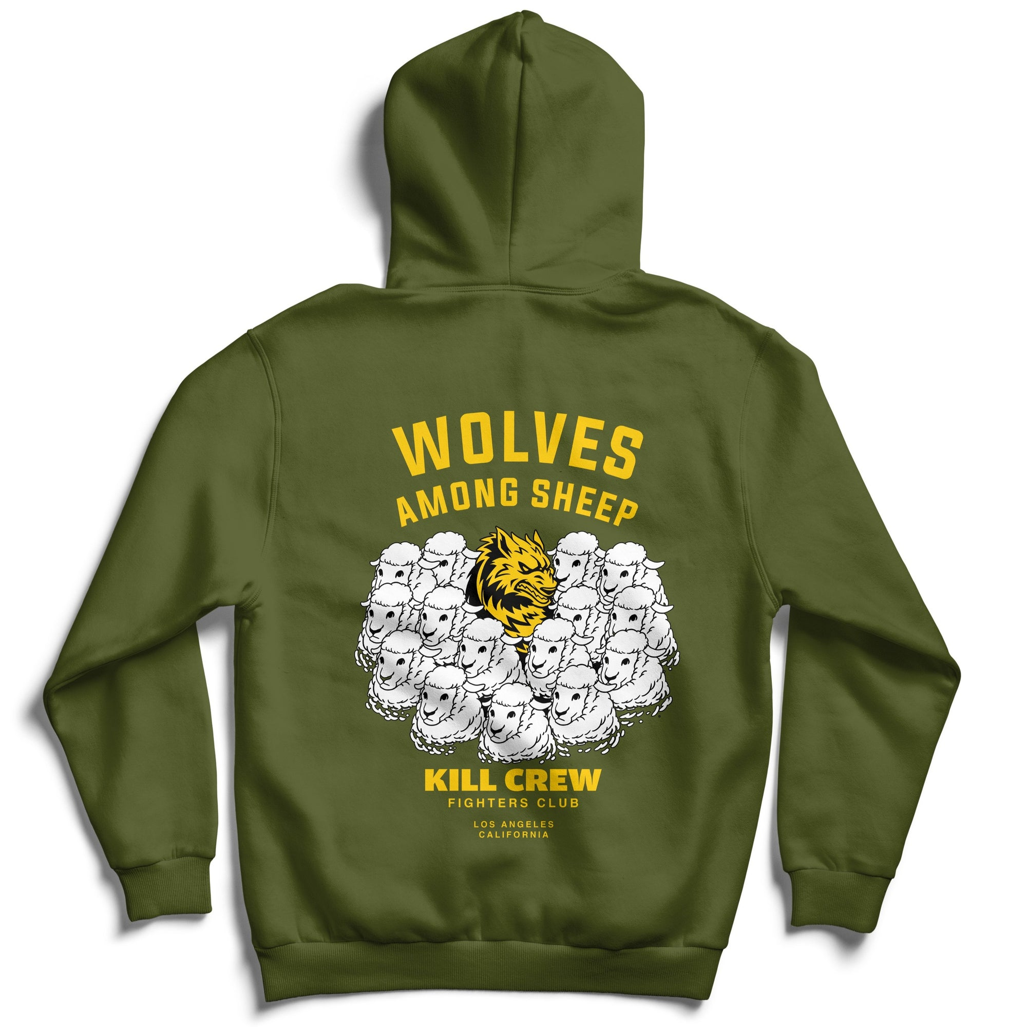 WOLVES AMONG SHEEP HOODIE v2 - OLIVE