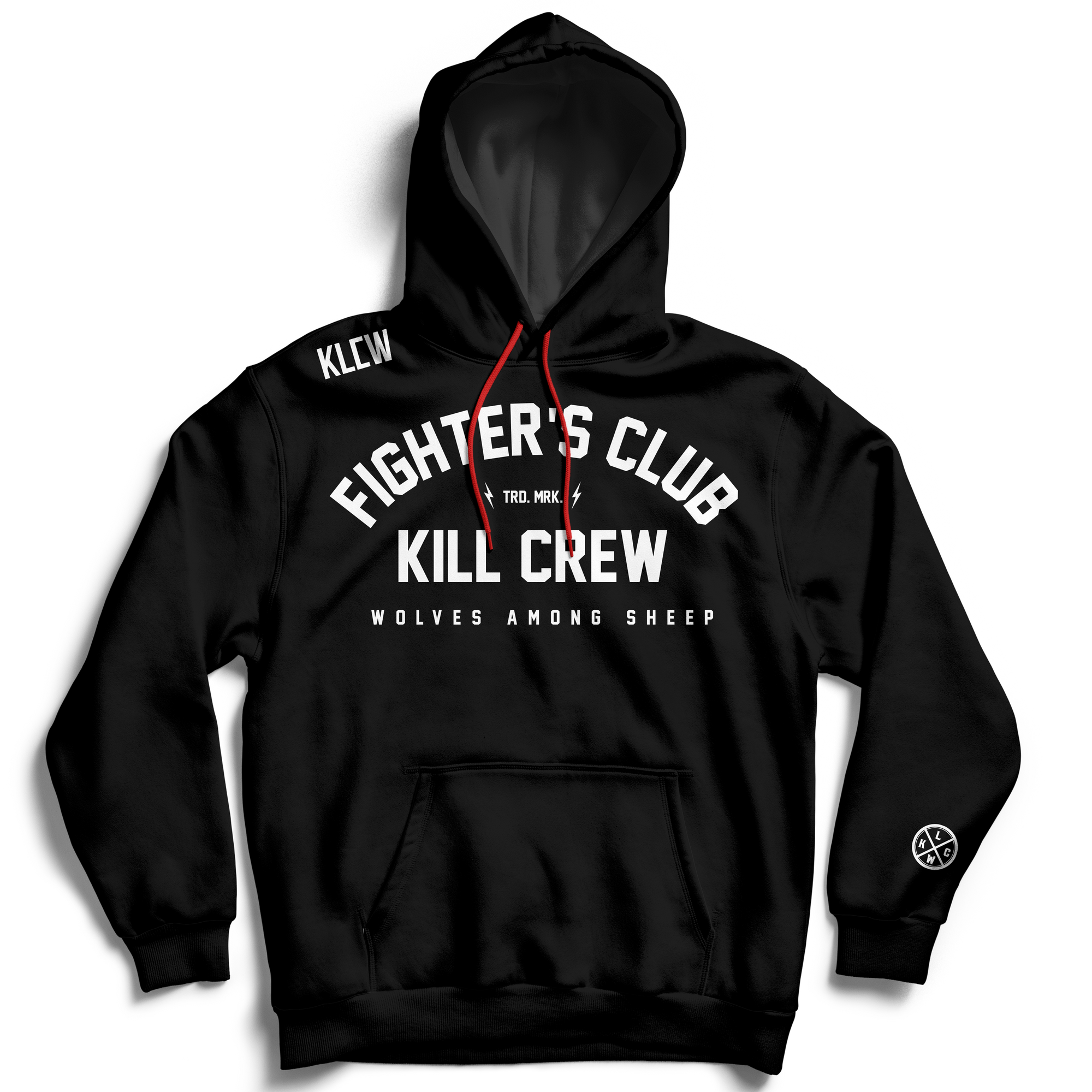 FIGHTER'S CLUB HOODIE - BLACK