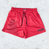 MUAY THAI SHORTS (MID THIGH CUT) - RED