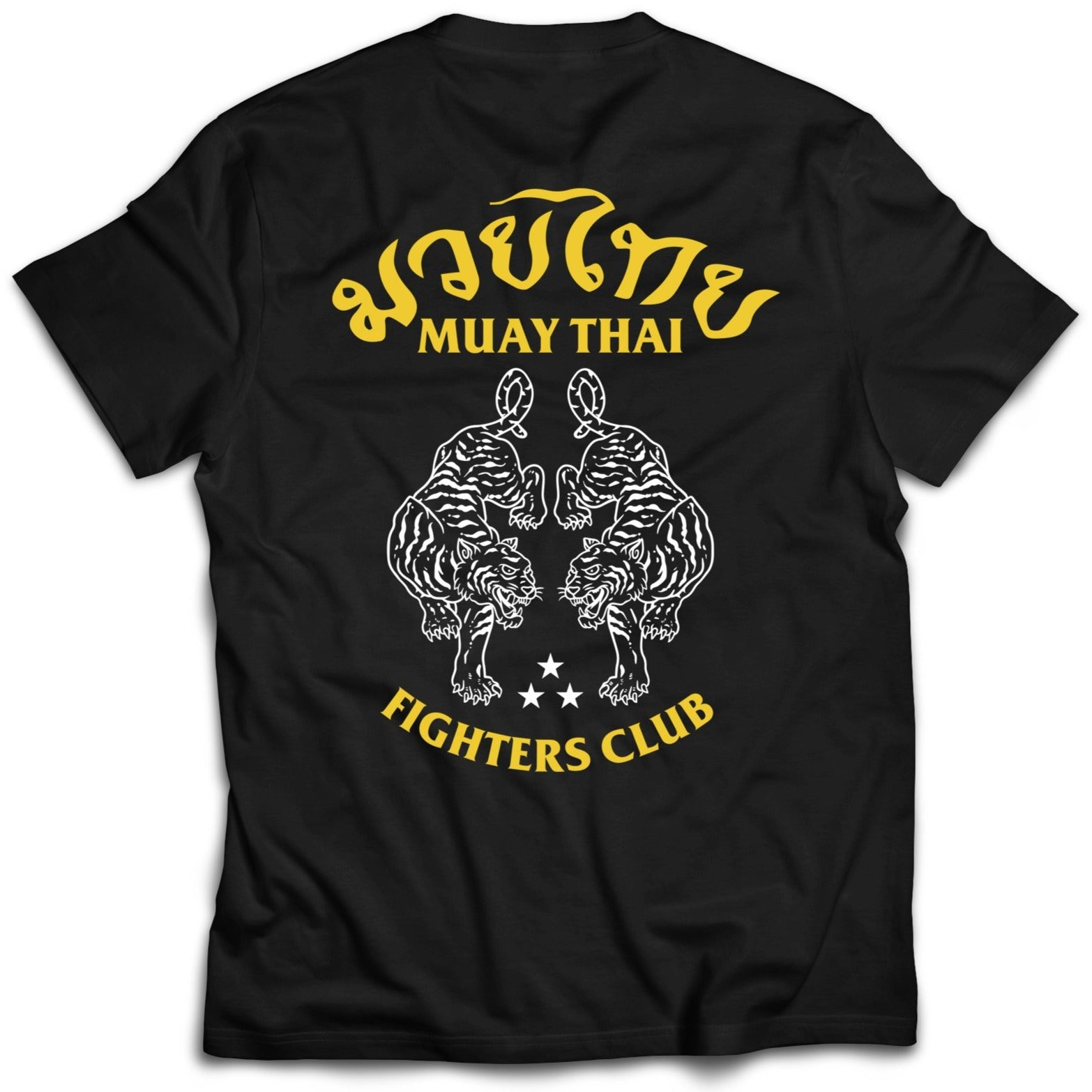 MUAY THAI TWIN TIGER T-SHIRT - BLACK