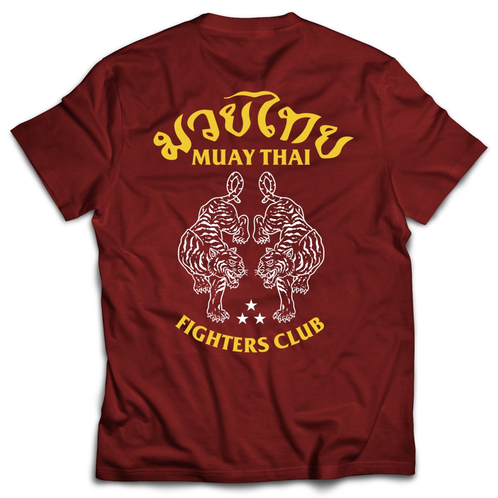 MUAY THAI TWIN TIGER T-SHIRT - RED