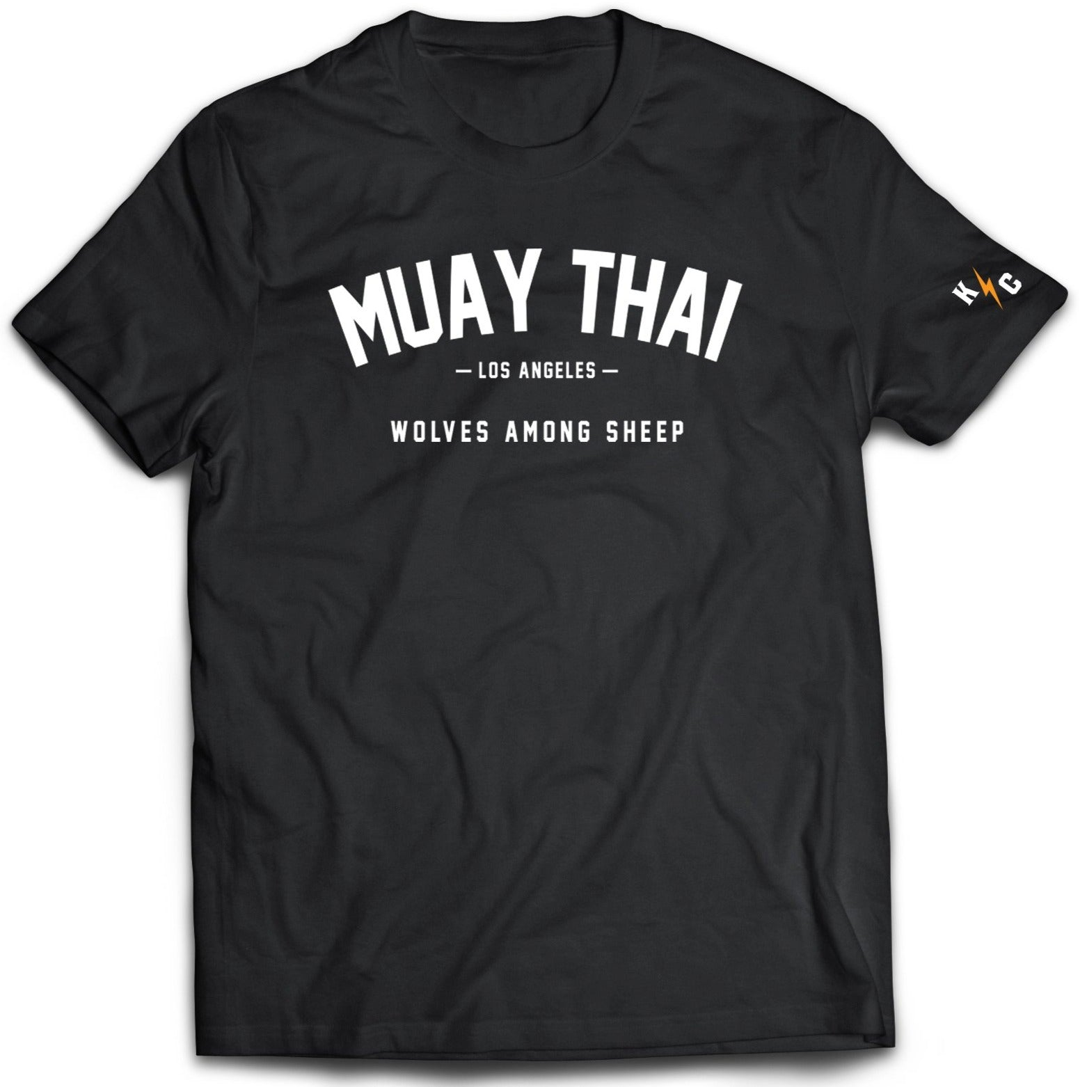 MUAY THAI WOLVES AMONG SHEEP T-SHIRT - BLACK