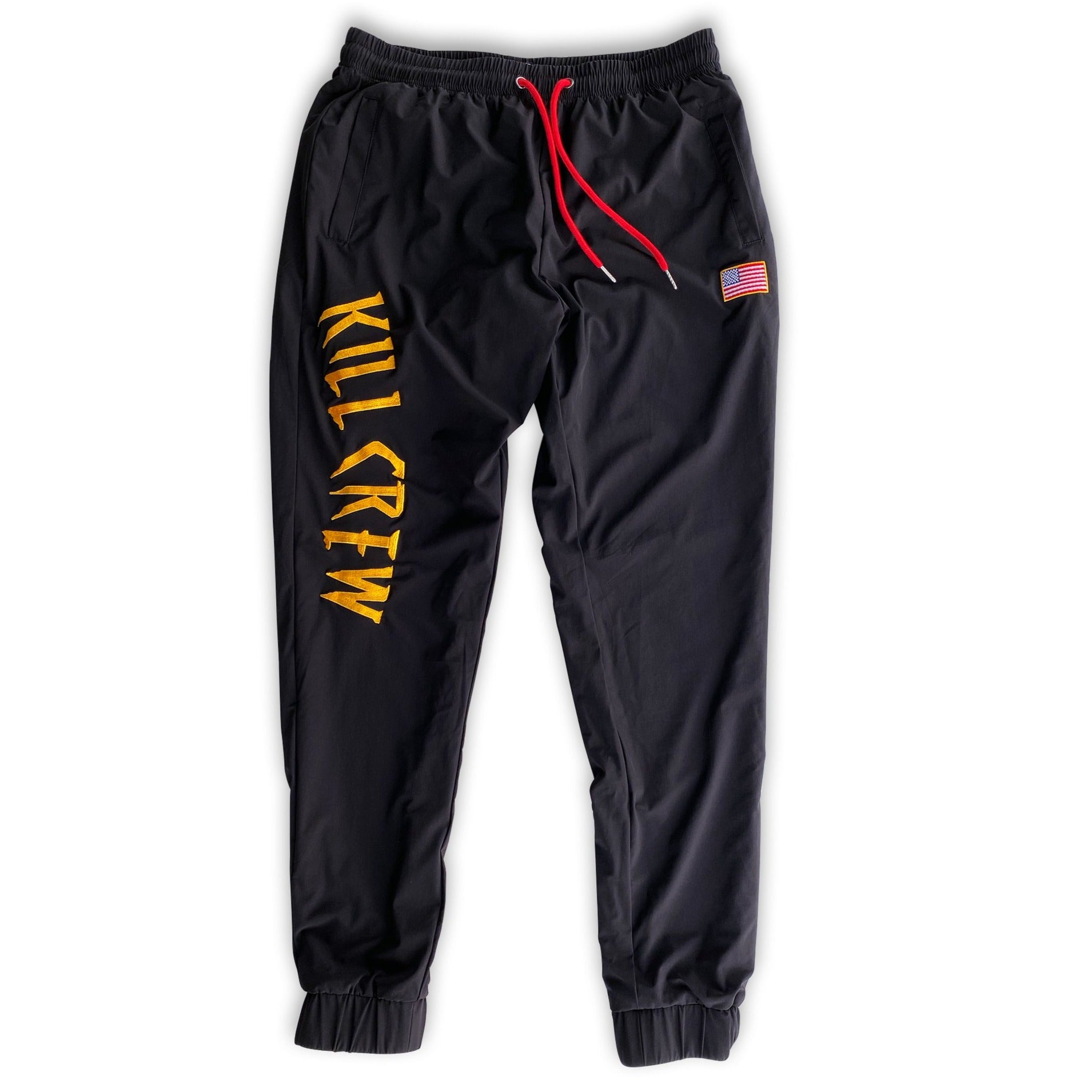 NYLON TECH PANTS - GOLD/BLACK