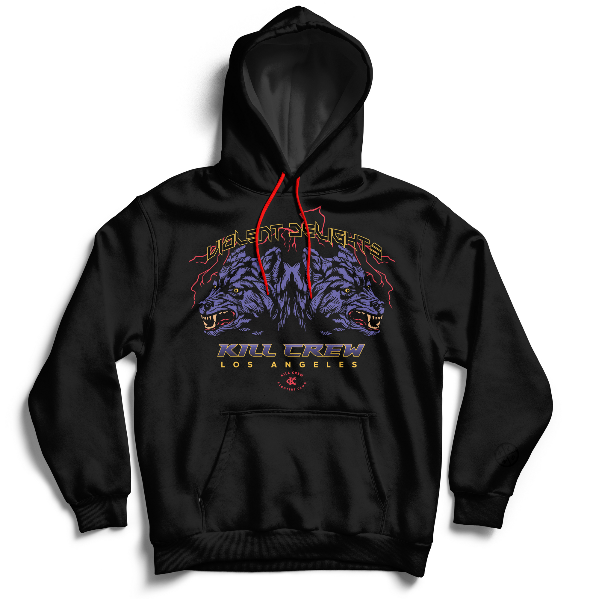 VIOLENT DELIGHTS HOODIE - BLACK