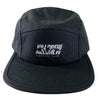 5 PANNEL HAT - BLACK