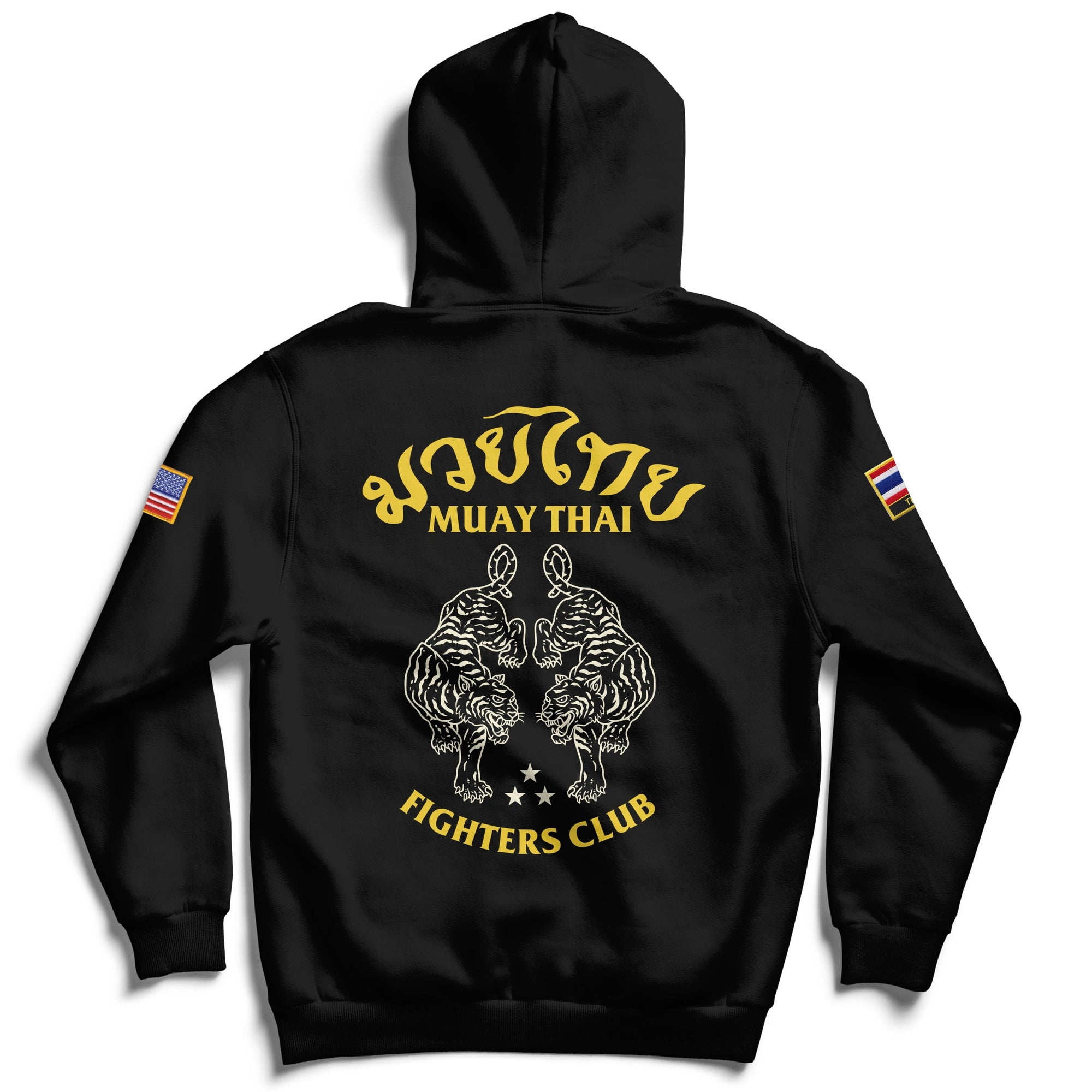 MUAY THAI TWIN TIGER HOODIE - BLACK v2