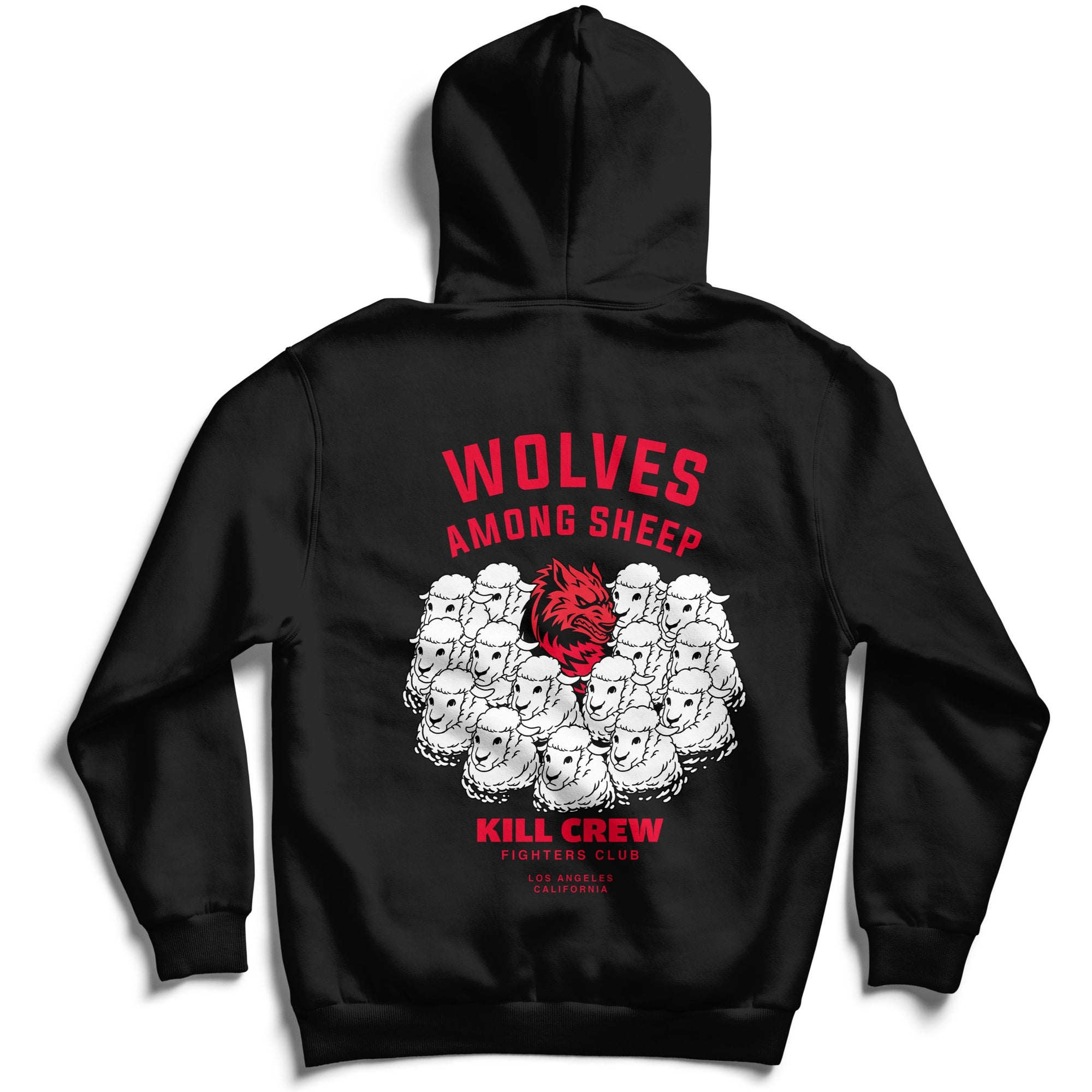 WOLVES AMONG SHEEP HOODIE v2 - BLACK