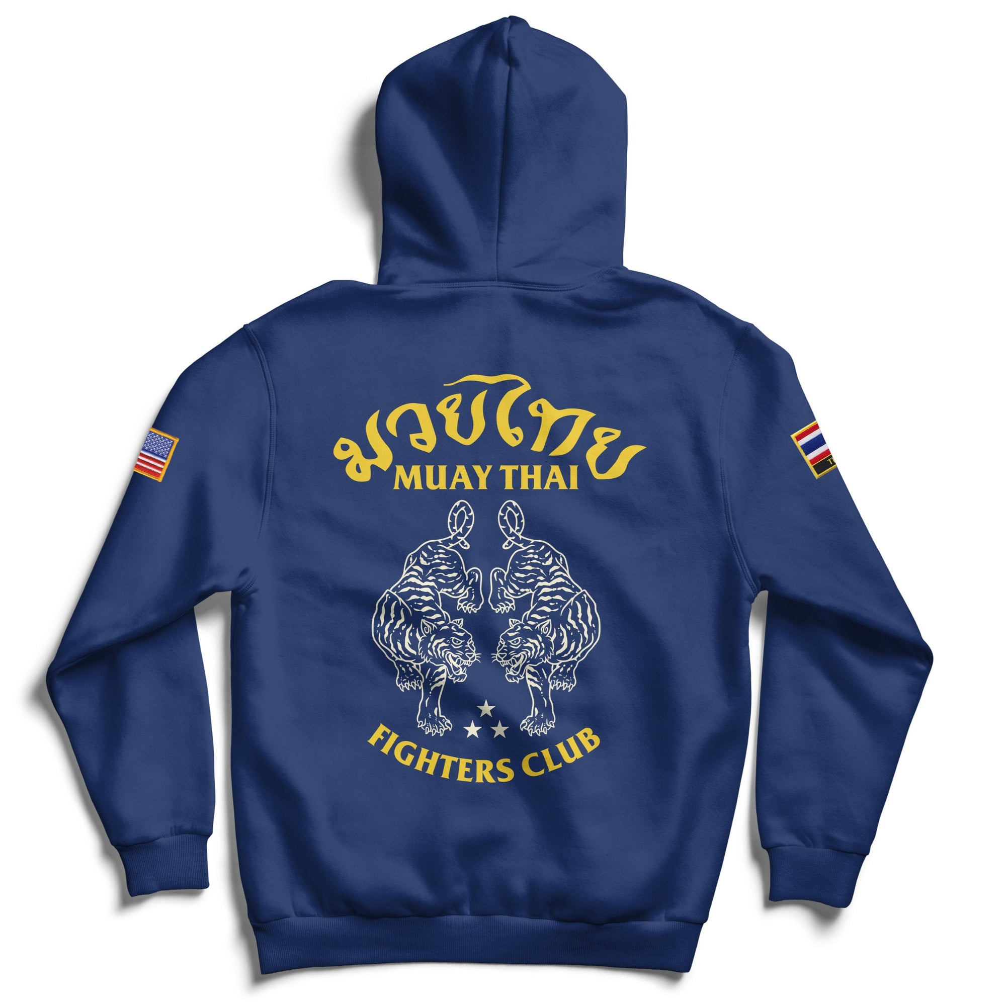 MUAY THAI TWIN TIGER ZIP UP - BLUE
