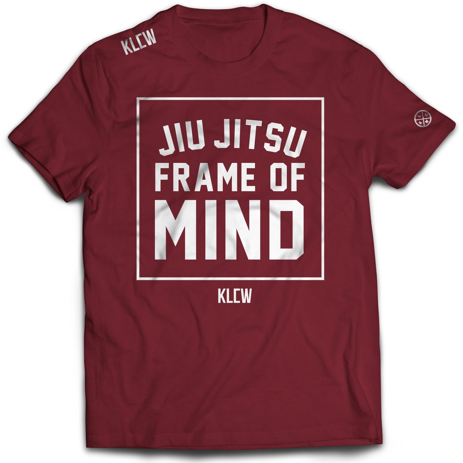 JIU JITSU FRAME OF MIND T-SHIRT - MAROON