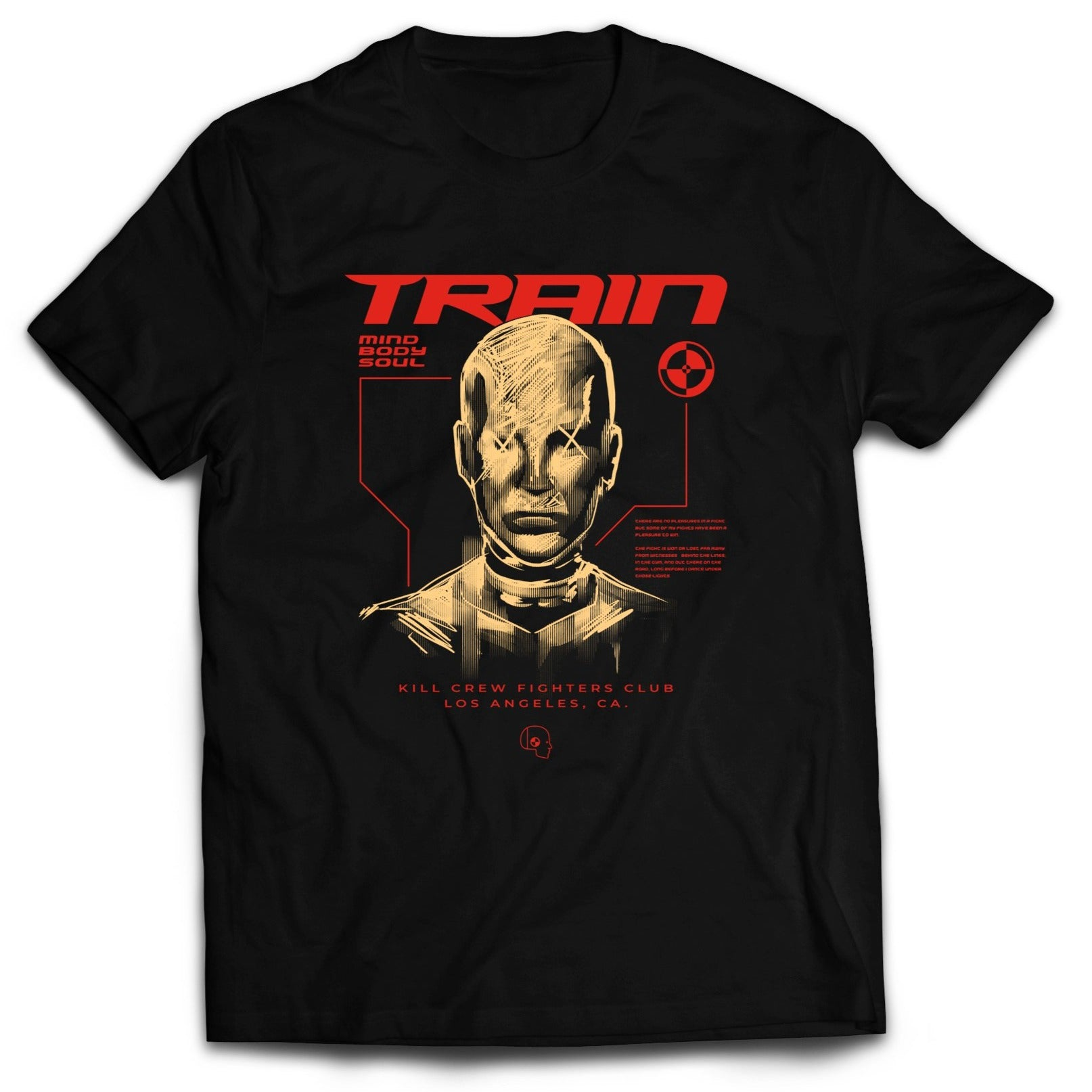 TRAIN MIND BODY SOUL T-SHIRT - BLACK