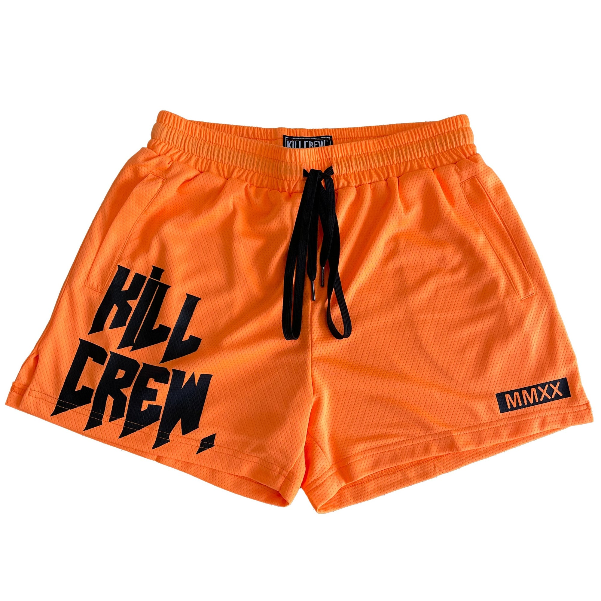 MUAY THAI SHORTS (MID THIGH CUT) - ORANGE