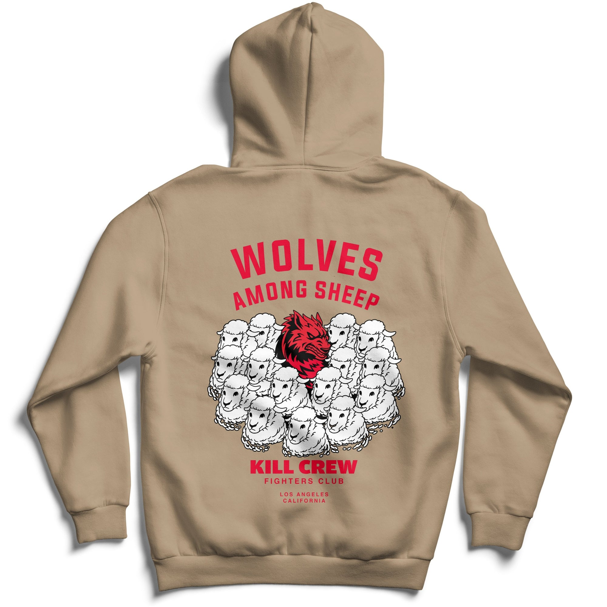 WOLVES AMONG SHEEP HOODIE v2 - SAND