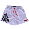 MUAY THAI SHORTS (MID THIGH CUT) - WHITE