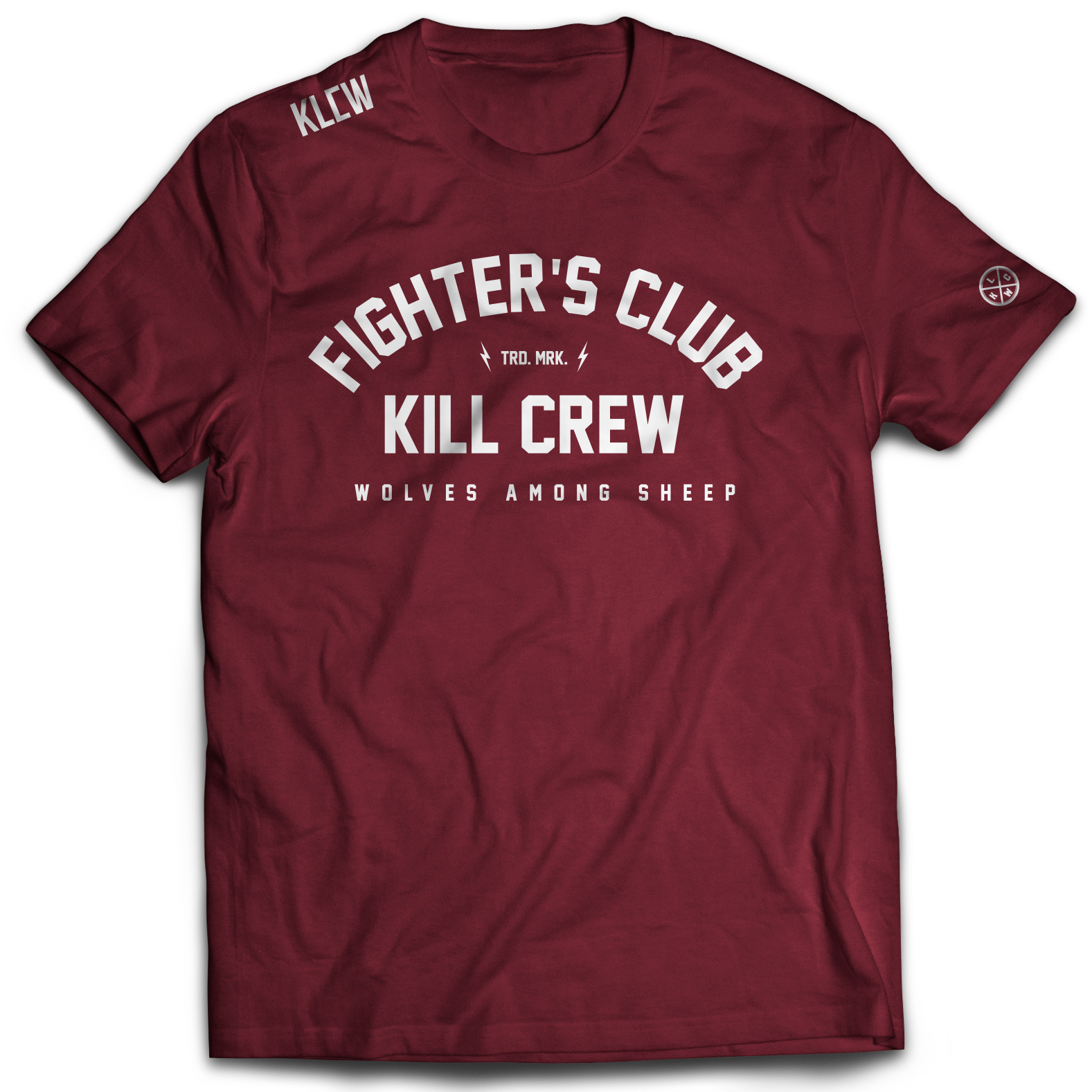 FIGHTER'S CLUB T-SHIRT - MAROON
