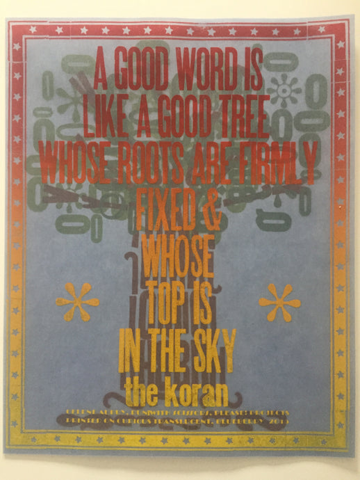Good Word Tree - Poster