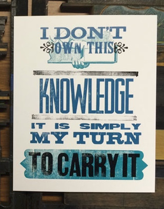 I Don't Own Your Knowledge - 8x10 Poster