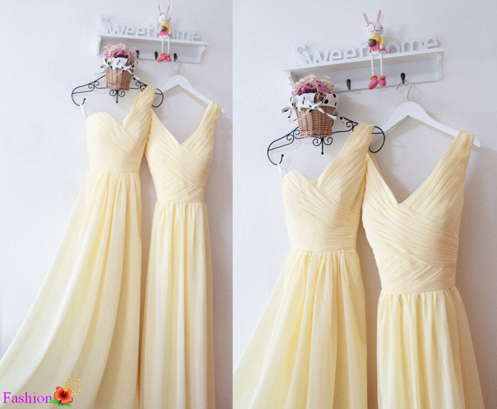 A line bridesmaid dresseslong one shoulder yellow chiffon a line bridesmaid dresseslong one shoulder yellow chiffon bridesmaid fashiondressgallery ombrellifo Choice Image
