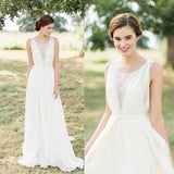 A Line New Style Simple Lace Beach Wedding Dress,Lace Beach Bride Dress