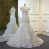High Quality New Fashion Lace Mermaid Ivory Wedding Dresses