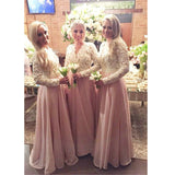 Lace Bridesmaid Dresses Prom Dress Floor Length