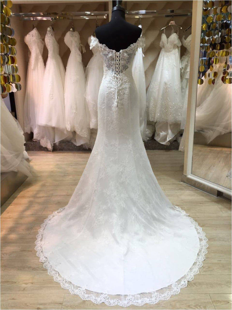 Off the Shoulder Princess Style Mermaid Lace Wedding Dress