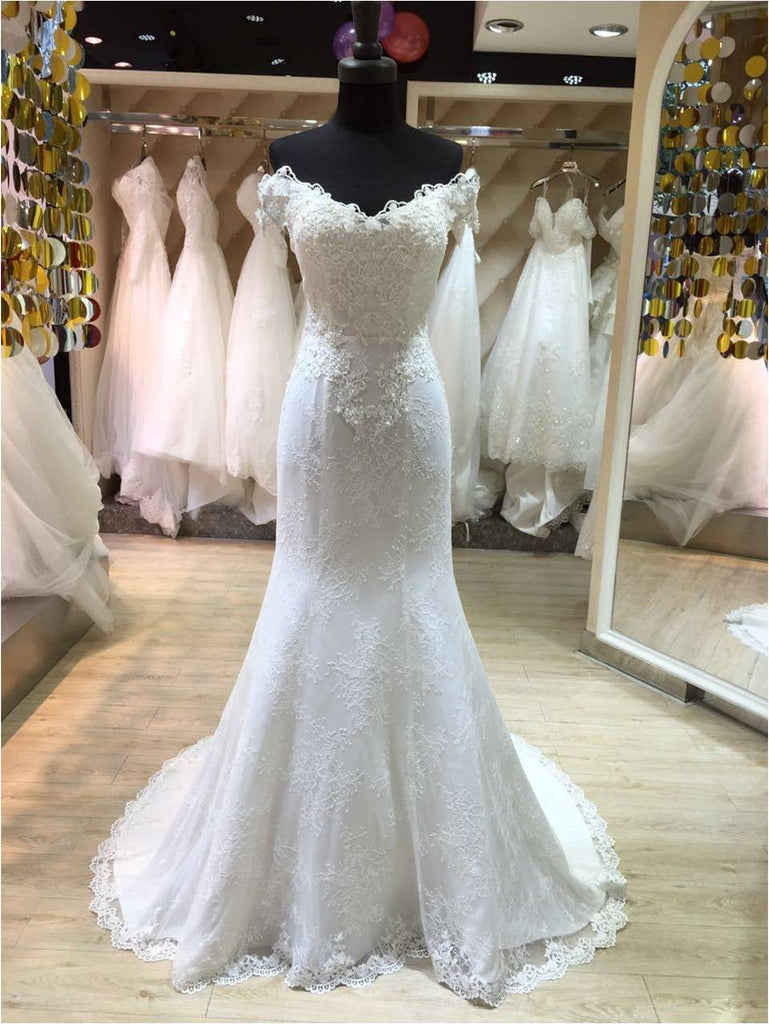 wedding dress style the shoulder princess style mermaid lace wedding dress 9268