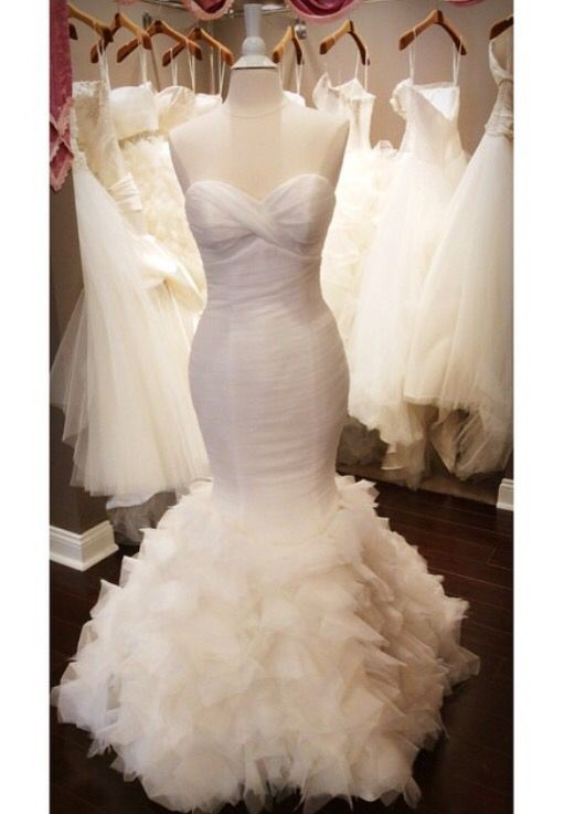 Simple Mermaid Plus Size Tulle Sexy Wedding Dress For Bride
