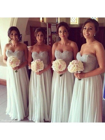 XB19 long sleeveless sweetheart bridesmaid dress,elegant lace bridesmaid dress
