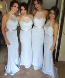 XB31 Long Bridesmaid Dress,mermaid bridesmaid dress,sleeveless Bridesmaid Dress