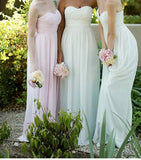 XB47 Cheap chiffon mint bridesmaid dress,long chiffon wedding party dress
