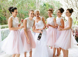 XB51 Junior bridesmaid dress,pink lace bridesmaid dresses,unique bridesmaid dress