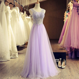 XP135 prom dresses,Sexy Prom Dress,Beautiful stunning tulle A-line long handmade prom dresses