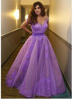 Xp210 Purple Tulle Prom Dresscharming Tulle Prom Dressesprincess