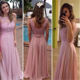XP213 New Arrival Cap Sleeve Appliqued Long Prom Dress,pink lace formal occasion dress