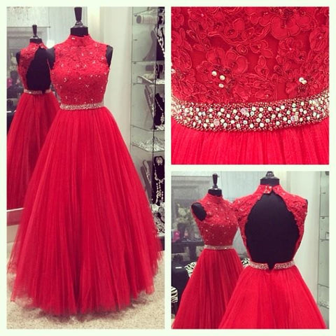 XP221 Red Prom Dresses,Discount Prom Dresses,Tulle Prom Dresses