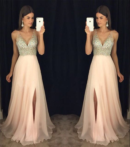 XP94 New Arrival Beadings Prom Dress,Modest Prom Dress