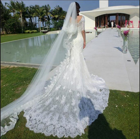 XW27 Mermaid Wedding Dress,Lace Wedding Dress,Bridal Dress