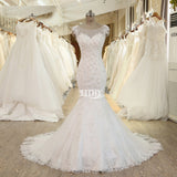 XW47 Sexy Open Back Mermaid Wedding Dress,Casamento Spaghetti Straps New Arrival Bridal Gowns