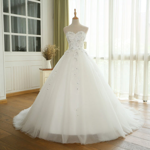 XW57 Princess Wedding Dress Casamento Sweetheart Vintage Ball Gown Bridal Gowns 2017