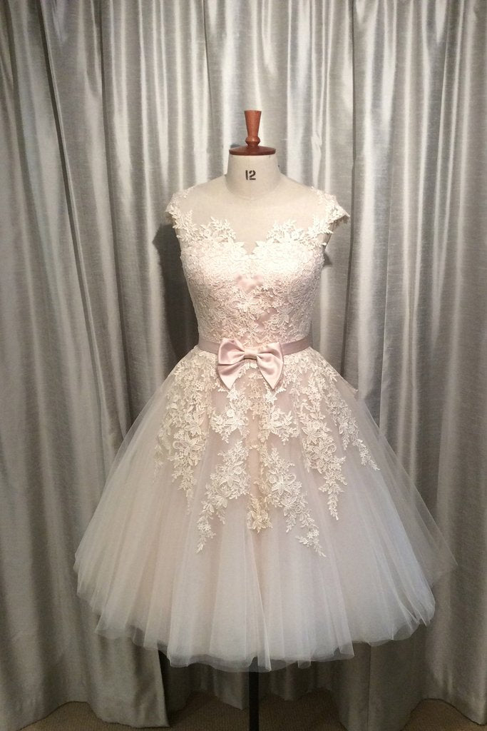 87febdc859a Ball Gown Lace Homecoming Dress Short