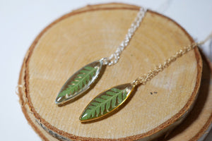 Dainty Fern Leaf Marquise Necklace