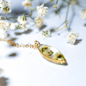 Tiny Baby's Breath Marquise necklace
