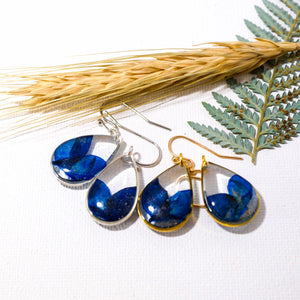 Texas Bluebonnet petal teardrop earrings