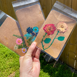 Pressed flower Greeting Card
